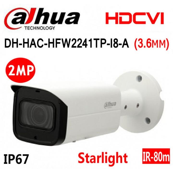 Dahua DH-HAC-HFW2241TP-I8-A (3.6 мм) Starlight CVI видеокамера на 2 MP