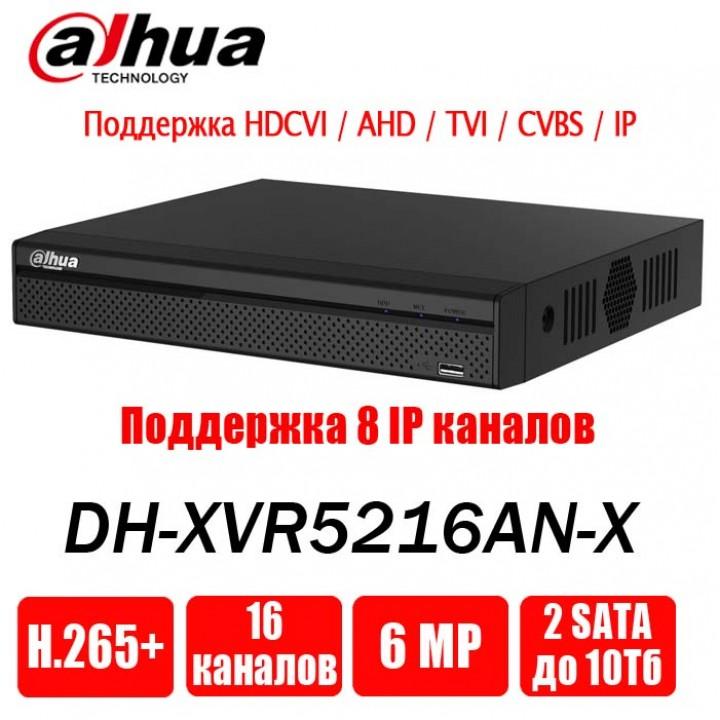 Dahua DH-XVR5216AN-X на 16 камер видеорегистратор