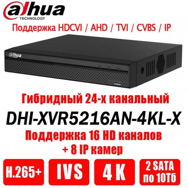 Dahua DHI-XVR5216AN-4KL-X на 16 камер видеорегистратор