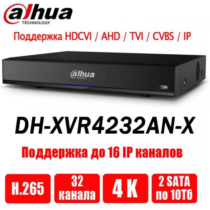 Dahua DH-XVR4232AN-X на 32 камеры видеорегистратор
