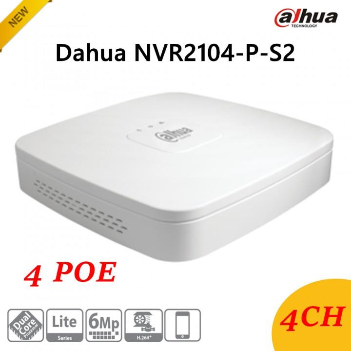 IP видеорегистратор Dahua DH-NVR2104-P-S2 на 4 камеры