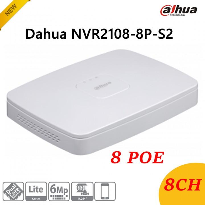 IP видеорегистратор Dahua DH-NVR2108-8P-S2 на 8 камер