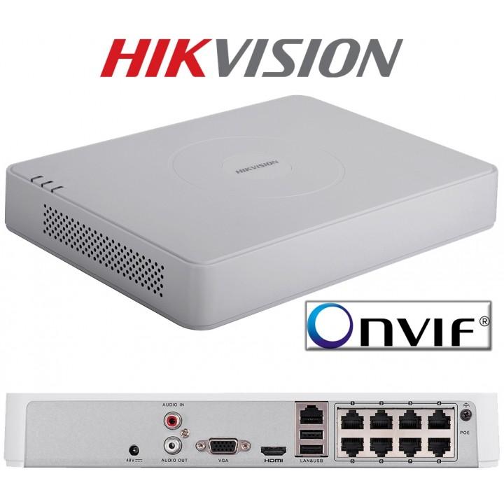 Hikvision DS-7108NI-E1/8P 8-канальный IP видеорегистратор