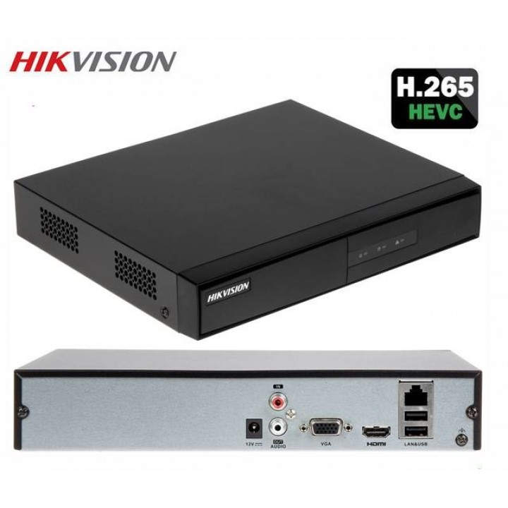 Hikvision DS-7604NI-K1/4P 4-канальный IP видеорегистратор