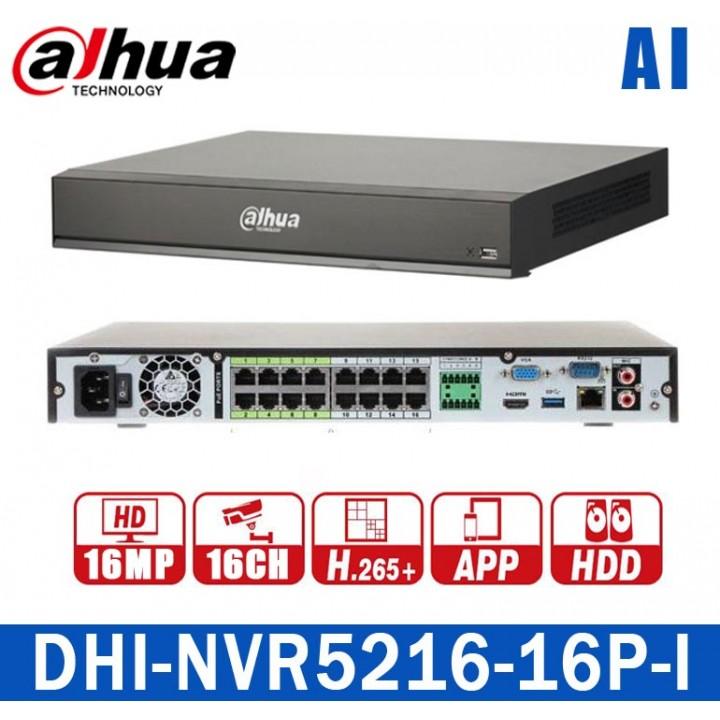 Dahua DHI-NVR5216-16P-I на 16 камер и 16 PoE IP видеорегистратор