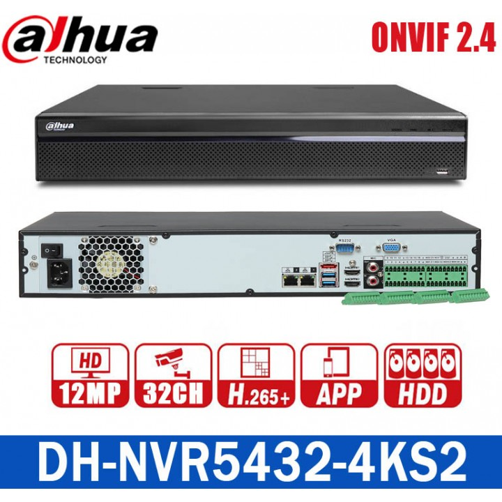 Dahua DH-NVR5432-4KS2 на 32 камеры IP видеорегистратор