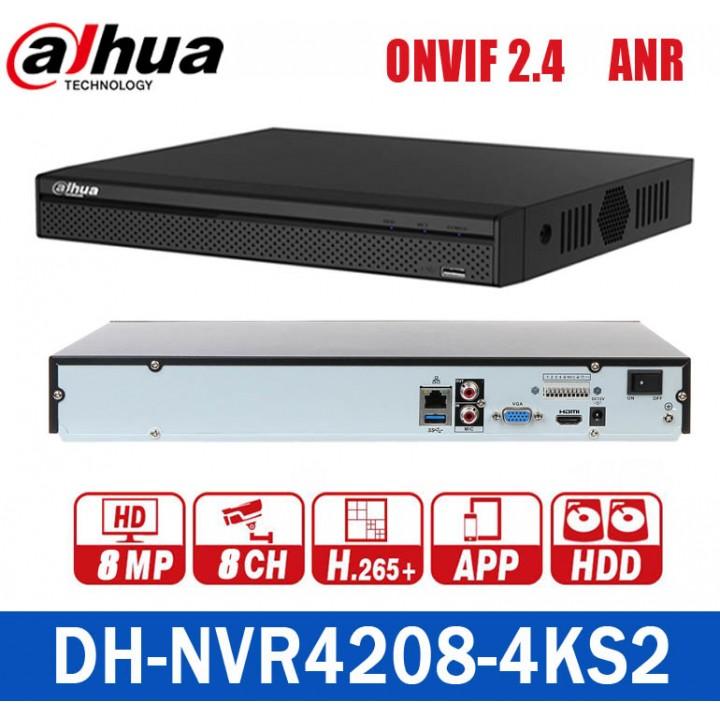 Dahua DH-NVR4208-4KS2 на 8 камер 4K IP видеорегистратор