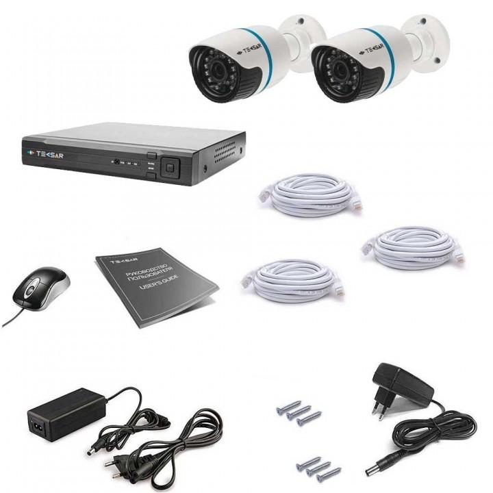Комплект видеонаблюдения Tecsar IP 2OUT