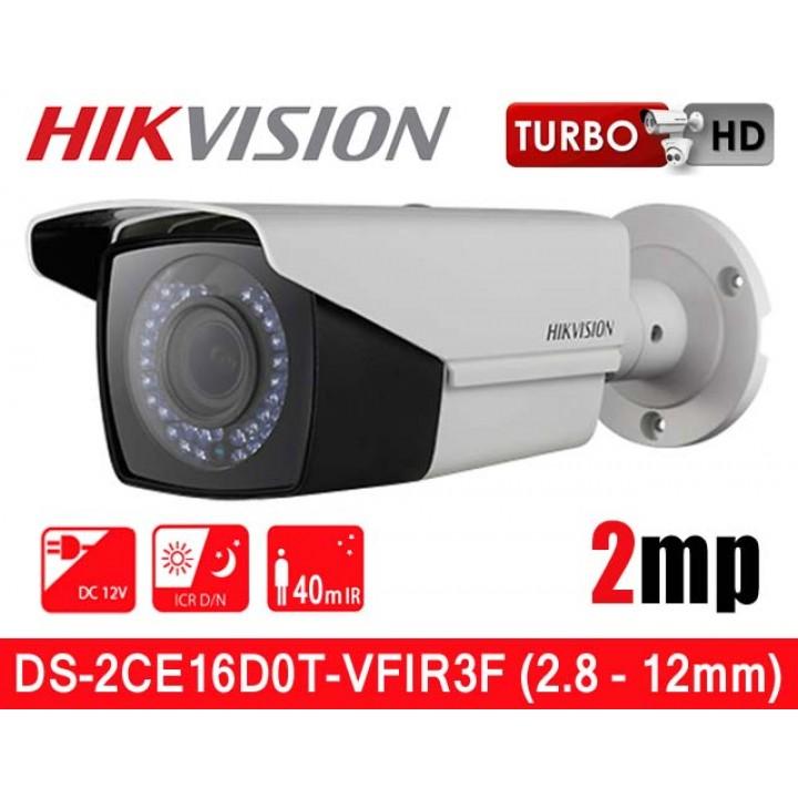 HikVision DS-2CE16D0T-VFIR3F (2.8 - 12 мм) HD-TVI видеокамера 2 MP