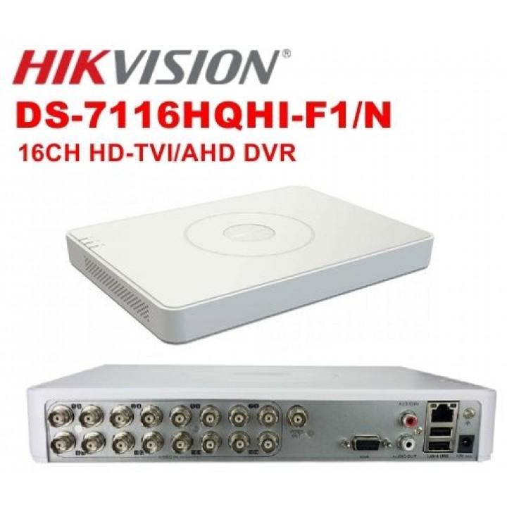 HD-TVI видеорегистратор на 16 камеры HikVision DS-7116HQHI-F1/N