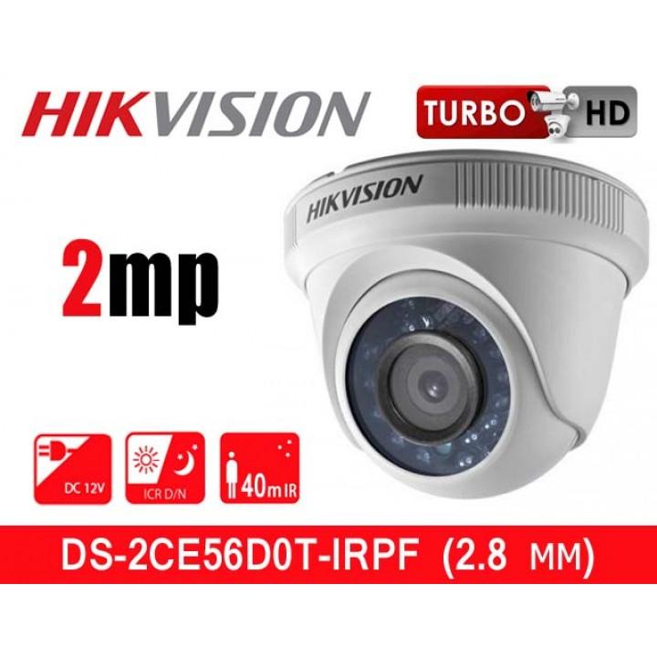 HikVision DS-2CE56D0T-IRPF (2.8 мм) HD-TVI видеокамера 2 MP