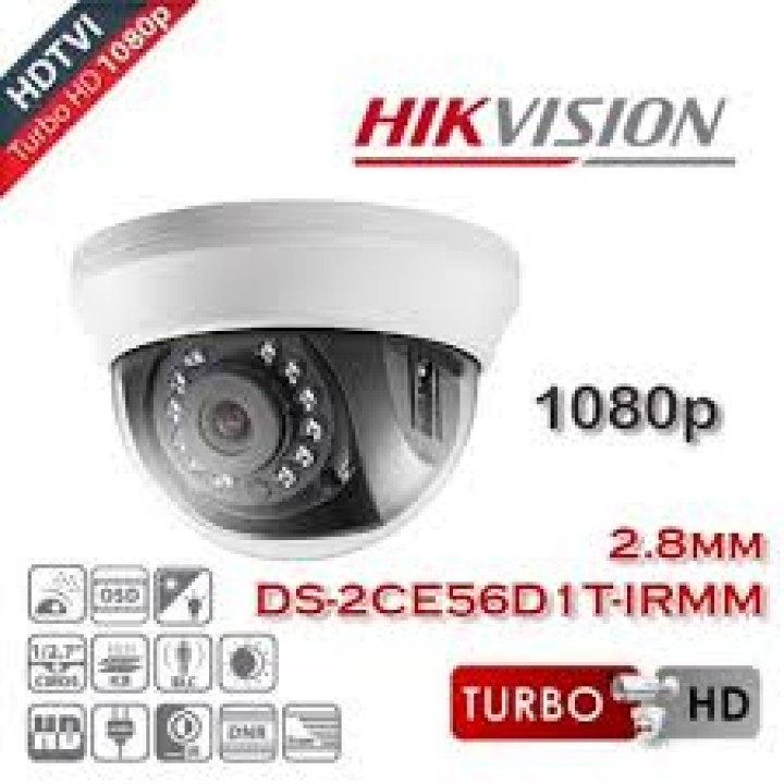 HD-TVI видеокамера 2.0 Mp HikVision DS-2CE56D1T-IRMM (2.8 мм)