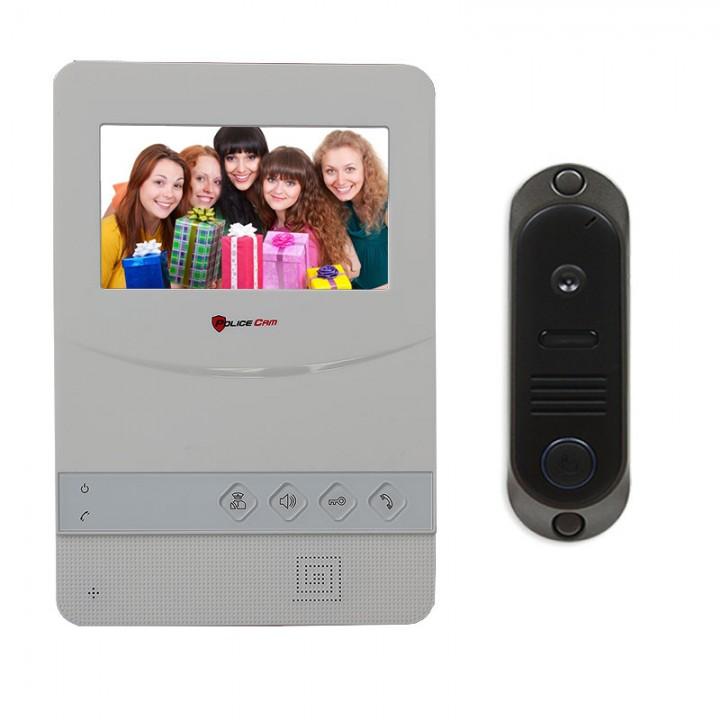 Комплект домофона PoliceCam PC-431+DVC-4Q