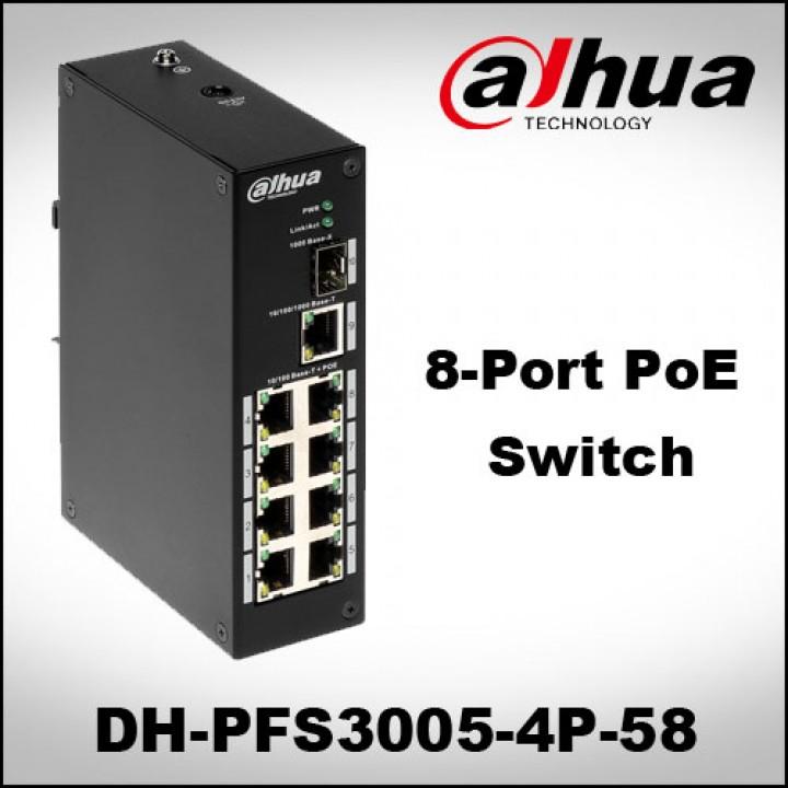 8-портовый POE коммутатор PFS3110-8P-96